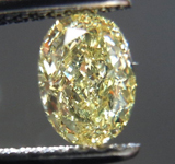 SOLD.....Loose Diamond: .74ct Oval Shape Fancy Yellow VS1 Great Cut R3802