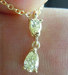 SOLD....Diamond Necklace: .25ctw Fancy Light Yellow Pear Shape Diamonds 18Karat Yellow Gold R3770