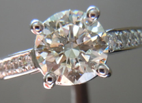 SOLD.....Diamond Ring: 1.52ct K/VS2 Round Diamond Platinum Ring R3734