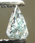 SOLD...Loose Diamond: .12ct Shield  Fancy  Blue-Green SI2 GIA Cool Shape Cool Color R3886