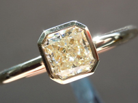 SOLD.... Diamond Ring: .69ct Radiant Cut L/VS1 GIA Bezel Ring Trade Up Special R3926