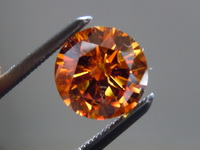 Diamond Ring: 1.19ct Fancy Deep Brownish Orange Floral Diamond Ring Platinum R3910