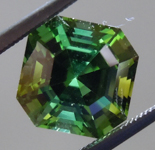 SOLD.....Loose Green Tourmaline: Precision Cut 2.89ct Green Tourmaline Asscher Cut R3892