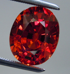 SOLD....Loose Spessartite Garnet: Precision Cut 5.20ct Spessartite Garnet Oval Shape R3901