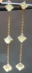 SOLD....Diamond Earrings: 1.50ctw Fancy Light Yellow Dangle Diamond Earrings R3982
