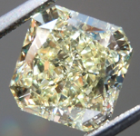SOLD.....Loose Diamond: 2.43ct Radiant Cut Fancy Light Yellow SI1 Simply Stunning R4021