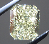 SOLD.....Loose Diamond: 1.53ct Radiant Cut Fancy Light Yellow VS2 GIA Lovely Lemon Color R4041