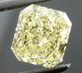 SOLD....Loose Diamond: 1.33ct Radiant Cut Fancy Light Yellow VS2 GIA Gorgeous Stone R4040