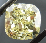 SOLD.....Loose Diamond: 1.22 Fancy Yellow VS2 Cushion GIA great shape R4018