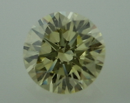 SOLD...Loose Diamond: .50ct Natural Light Yellow VVS2 Round EX cut grade GIA R4006