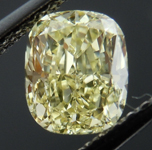 SOLD....Loose Diamond- NOW SET INTO UBER RING: 1.17ct Cushion Cut Fancy Light Yellow SI1 GIA Great Color and Cut R4054 