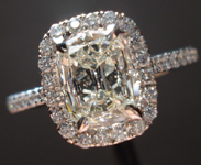 SOLD....Halo Diamond Ring: .71ct Daussi Cushion Cut M/SI2 18K White Gold Trade Up Special R3056