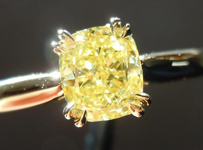 .84ct Intense Yellow SI2 Cushion Cut Diamond Ring R4123