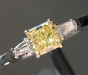 0.41ct Yellow VS1 Radiant Cut Diamond Ring R4145