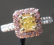 .40ct Fancy Yellow Radiant Diamond Ring Trade up SPECIAL R4140