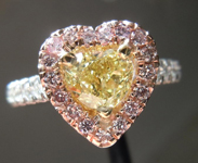 0.71ct Intense Yellow SI1 Heart Shape Diamond Ring R4151