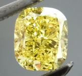 SOLD....Loose Diamond: .74ct Cushion Cut Fancy Intense Yellow SI2 GIA Very Strong Color R4150