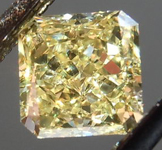 SOLD.....Loose Diamond: .51ct Radiant Cut Fancy Yellow VS2 GIA Great Cut R4164