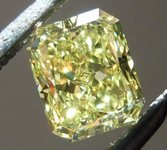 SOLD....Loose Diamond: .52ct Radiant Cut Fancy Yellow VS2 GIA Beautiful Cut and Color R4615
