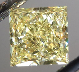 SOLD...Loose Diamond: .62ct Princess Cut Fancy Yellow VVS2 GIA Simply Stunning R4171