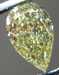 SOLD...Loose Diamond: .85ct Pear Shape Fancy Yellow VVS2 GIA Phenomenal Stone R4174