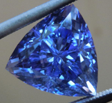 Loose Tanzanite: Precision Cut 5.53ct Tanzanite Trilliant Vibrant Color R4196