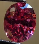 Loose Spinel: Precision Cut 1.68ct Pink Spinel Oval Shape Dramatic Color R4192