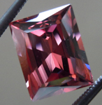 SOLD.....Loose Zircon: Precision Cut 3.60ct Brown-Pink Zircon Radiant Cut Sweet Stone R4197
