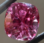 SOLD....Loose Sapphire: Precision Cut 3.61ct Magenta Sapphire Cushion Cut Amazing Stone R4180