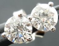 SOLD....Diamond Earrings: .62ct TW Martini Studs Spade family sparkle R4100