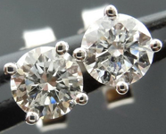 SOLD....Diamond Earrings: .36ctw Four Prong Studs Spade Family Great Value R4097