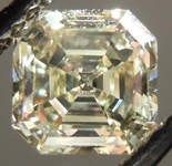 SOLD.....Loose Diamond: 1.24ct Asscher Cut Fancy Light Yellow VS2 GIA Beautiful Steps R4209