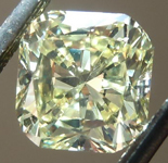 SOLD....Loose Diamond: 1.05ct Radiant Cut Fancy Light Yellow SI1 GIA Cool Cut R4217