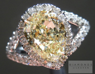 SOLD....Yellow Diamond Ring: 2.03ct Pear Shape Y-Z VS1 GIA Split Shank Halo Ring R4222