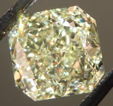 SOLD...Loose Diamond: 1.77ct Radiant Cut Y-Z, Natural Light Yellow VS1 GIA Sparkling Lemonade R4219