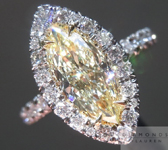 SOLD...Yellow Diamond Ring: 1.01ct Marquise Fancy Light Yellow VS1 GIA Halo Ring R4212