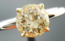 "Diamond Ring: 1.35ct Old European Cut U-V VS1 Hand Made Platinum and 18K Yellow Gold ""Ultra-Flower"" GIA R4048"