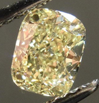 SOLD....Loose Diamond: .72ct Cushion Cut Fancy Light Yellow VS1 GIA Beautiful Crushed Ice R4232