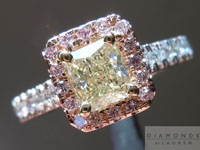 SOLD....0.64ct Yellow VS2 Radiant Cut Diamond Ring R4233
