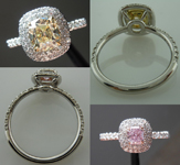 "Semi Mount Ring: Beautiful Hand Made Double Halo in Platinum ""Uber Ring"" SO4066"