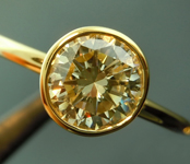 0.94ct Yellow Round Brilliant I1 Diamond Ring R4252