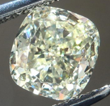 SOLD....Loose Diamond: 1.00ct Cushion Cut W-X Natural Light Yellow VS1 GIA Cool Cut R4248