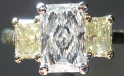 SOLD....Trade Up Special: 1.24 K color Radiant Yellow Side Diamonds 18kt yellow gold R1396