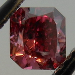 Loose Red Diamond: Incredibly rare Fancy Purplish RED Radiant Diamond GIA R4300