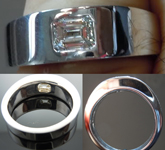 Semi Mount Ring: Custom Made Unisex Solitaire Band SO3270