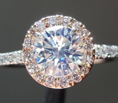 SOLD...Diamond Ring: .71ct Round Brilliant J/VVS1 GIA Strong Blue Flourescence R4312