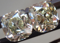 SOLD....Matching Diamonds: 1.26ctw Old Mine Brilliant Antique Style - Modern Precision R4305