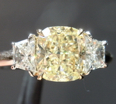 SOLD...Cushion Trapezoid Diamond:Ring 1.03ct Cushion Cut Fancy Light Yellow SI1 GIA SPECIAL R4343