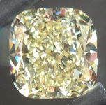 SOLD.... Loose Diamond NOW SET IN 3 STONE RING: 1.57ct Cushion Cut Fancy Light Yellow SI1 GIA Beautiful Cut R4372