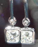 SOLD....Diamond Earrings: 1.00ctw Cushion Cut H/VS1 Diamond Dangle Earrings R4361